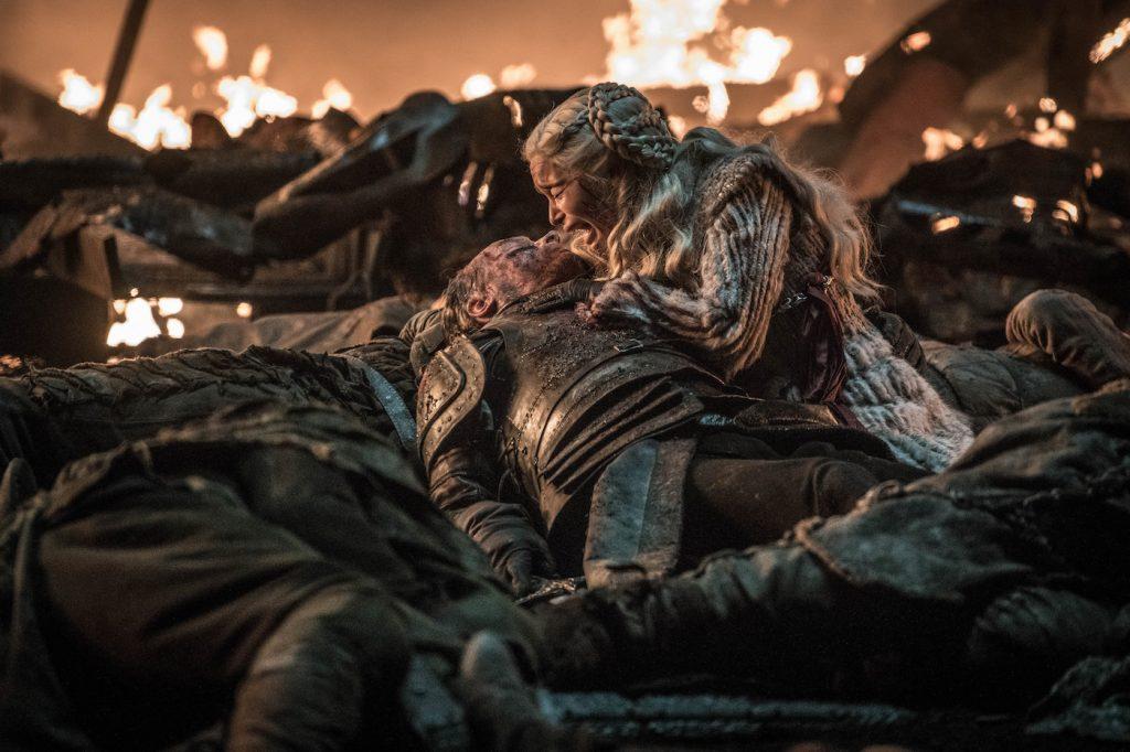 Season 8, episode 3 (debut 4/28/19): Iain Glen, Emilia Clarke. photo: Helen Sloan/HBO