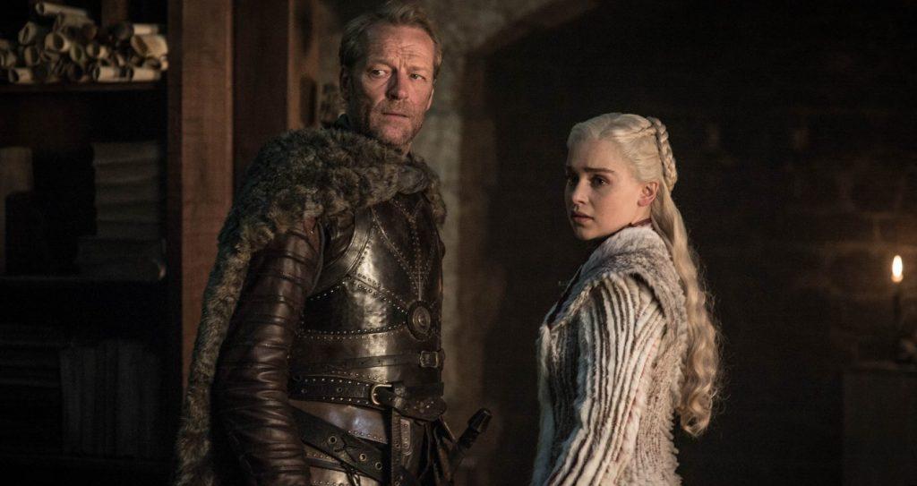 Season 8: Iain Glen, Emilia Clarke. photo: Helen Sloane/HBO
