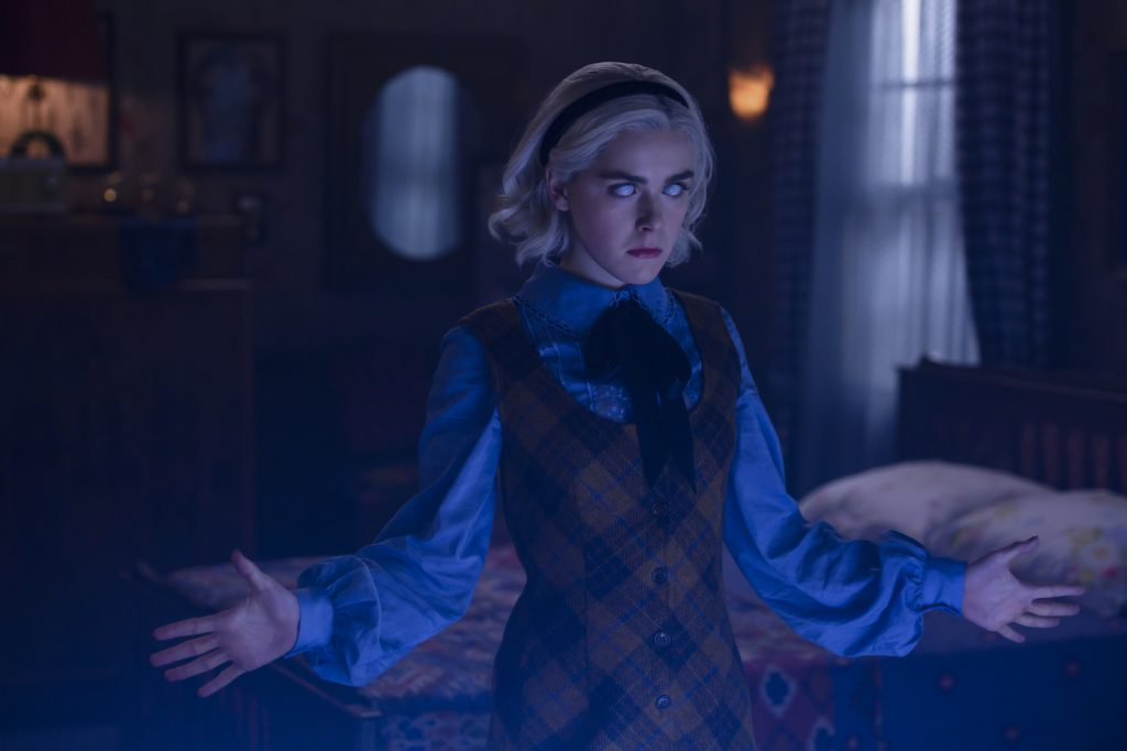 Kiernan Shipka in 'Chilling Adventures of Sabrina.' Photo by Diyah Pera/Netflix