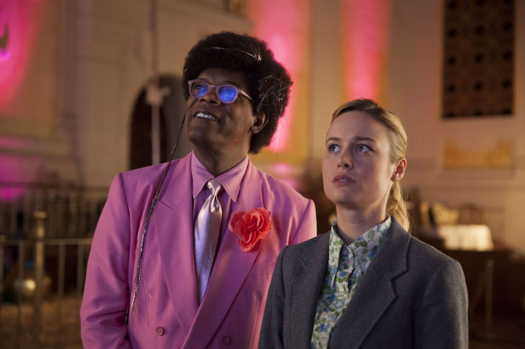 Samuel L. Jackson and Brie Larson in 'Unicorn Store.' Courtesy Netflix