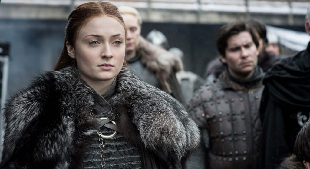 Season 8: Sophie Turner, Gwendoline Christie, Daniel Portman. photo: Helen Sloane/HBO