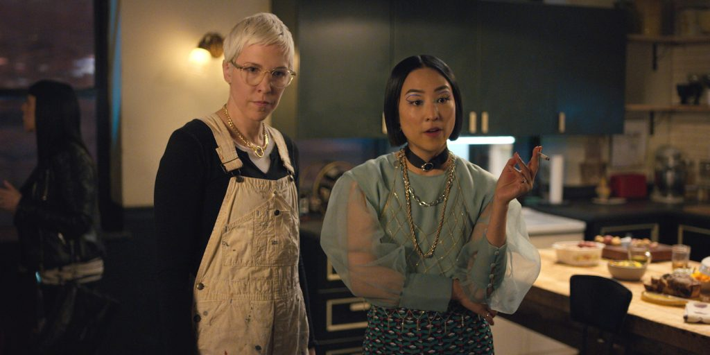 L-r: Rebecca Henderson, Greta Lee. Courtesy Netflix.