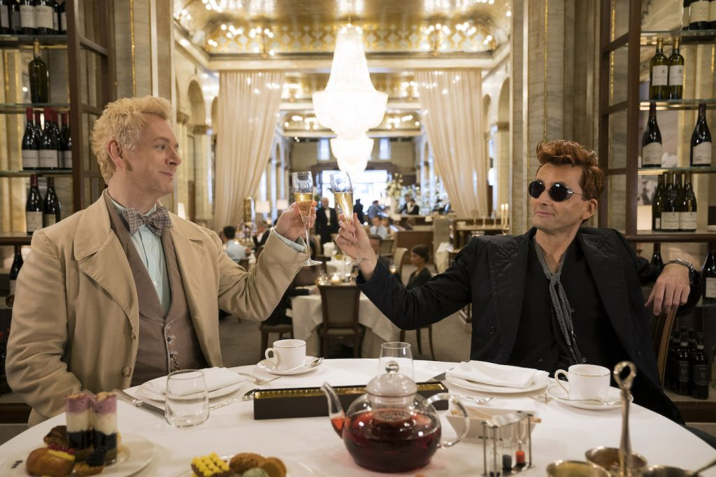 Michael Sheen and David Tenant in 'Good Omens.' Courtesy Amazon.