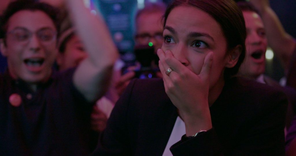 Alexandria Ocasio-Cortez in 'Knock Down the House.' Courtesy Netflix.