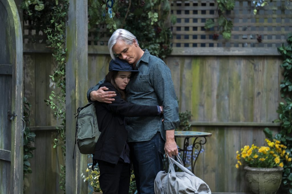 Ellen Page, Paul Gross. Photo by Alison Cohen Rosa/Netflix