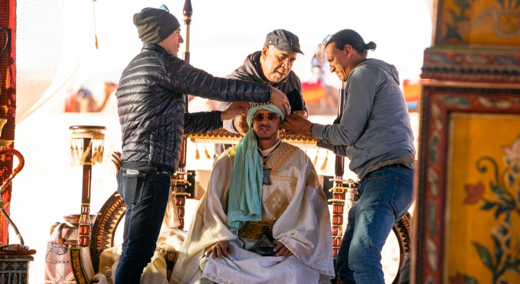 Costume designer Luca Mosca on the set of 'John Wick 3.'