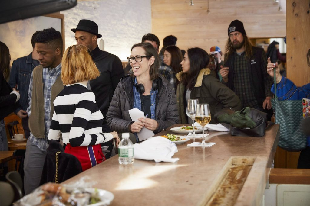 Miriam Shor on the set of 'Younger.' Courtesy of TV Land.