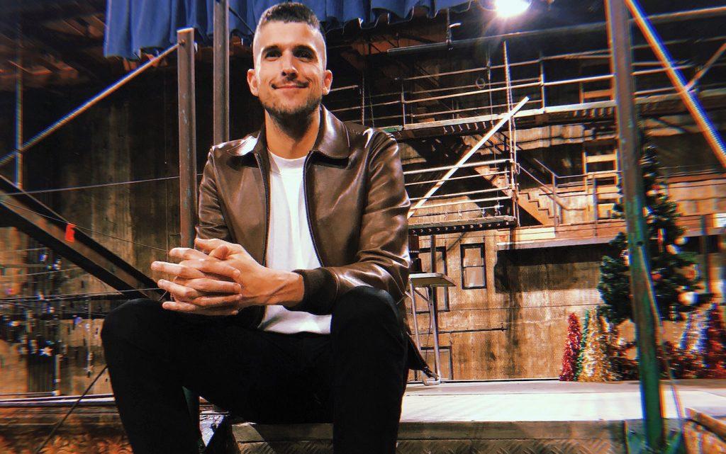 Jason Sherwood on the set of 'Rent Live.' Courtesy Fox.