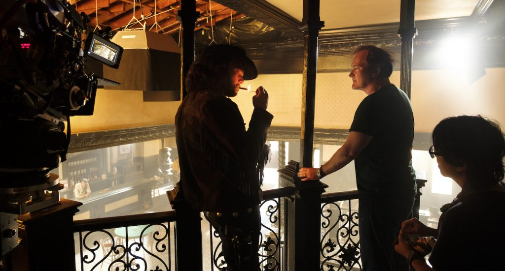 """Leonardo DiCaprio and Quentin Tarantino in Columbia Pictures """"Once Upon a Time in Hollywood."""