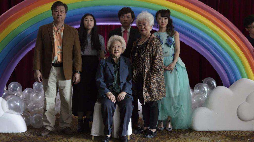 Awkwafina, Zhao Shuzhen, Tzi Ma, Lu Hong, Chan Han, Aoi Mizuhara. Courtesy A24.