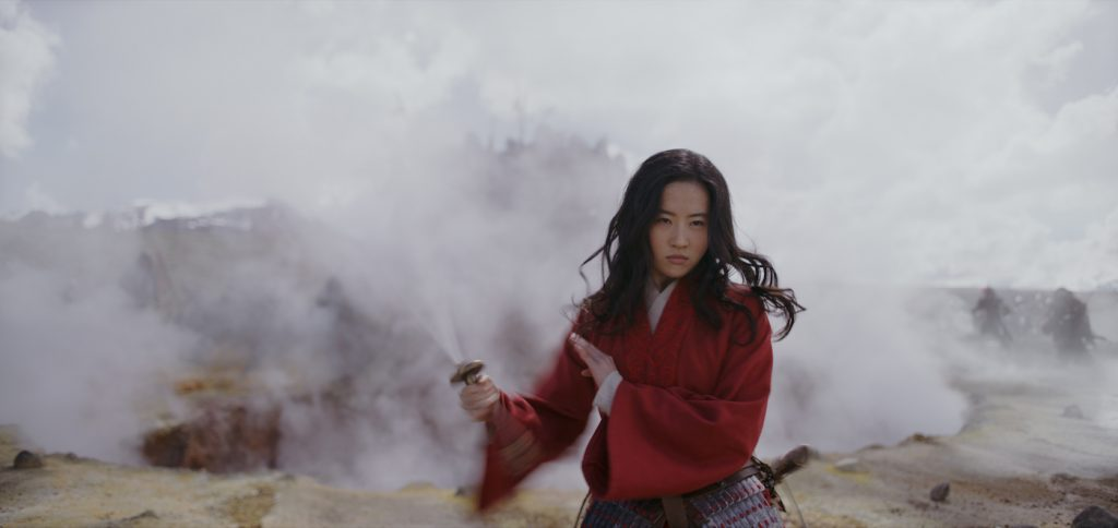 Mulan (Yifei Liu) fights on behalf of her father. Photo: Film Frame. Courtesy Walt Disney Studios.  © 2019 Disney Enterprises, Inc. All Rights Reserved.