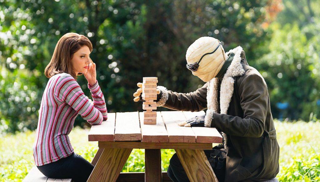 April Bowlby is Elasti-Girl and Alan Tudyk is Mr. Nobody. Courtesy DC