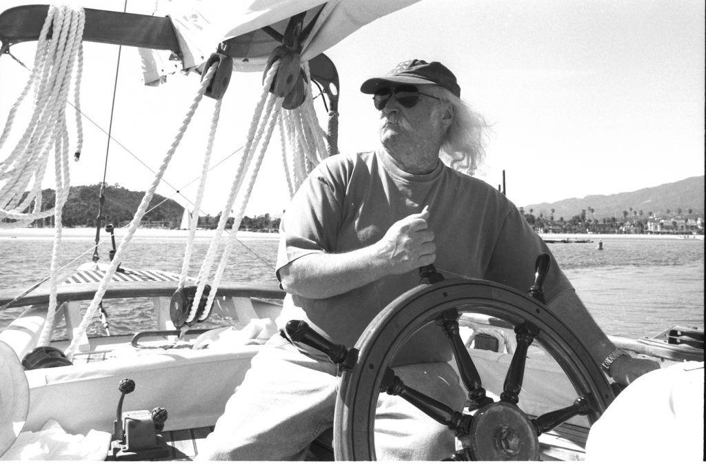 David Crosby on Mayan Boat Photo by Henry Diltz. Courtesy of Sony Pictures Classics.