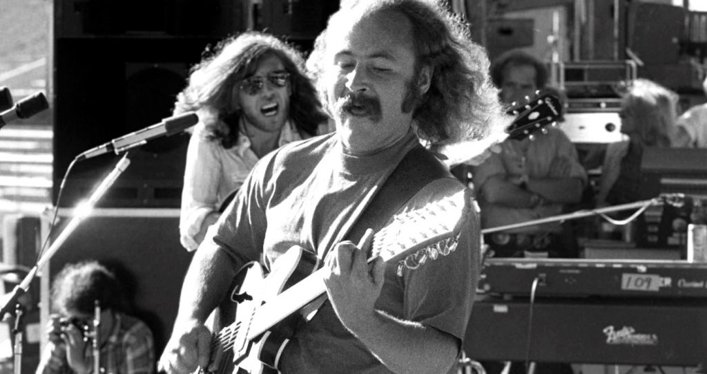 David Crosby during Crosby, Stills, Nash & Young Photo by Neal Preston. Courtesy of Sony Pictures Classics.