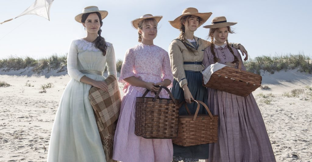 Emma Watson, Florence Pugh, Saoirse Ronan, Eliza Scanlen in Columbia Pictures' LITTLE WOMEN. Photo credit: Wilson Webb. Courtesy Sony Pictures.