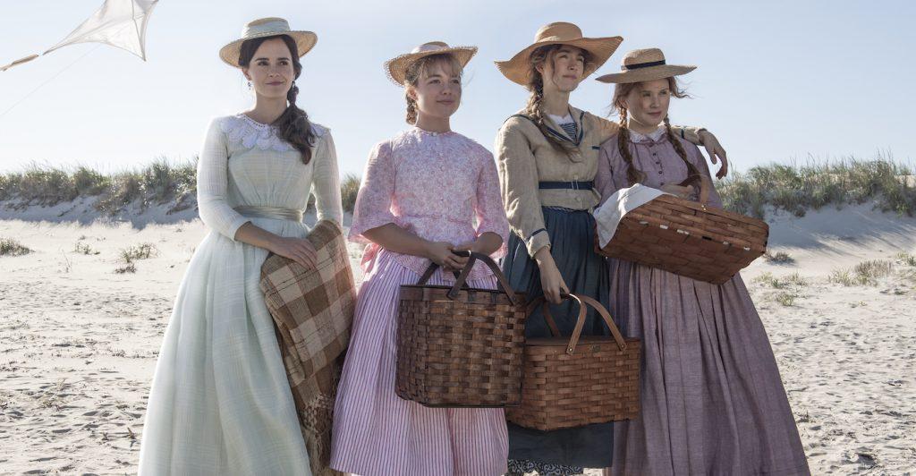 Emma Watson, Florence Pugh, Saoirse Ronan, Eliza Scanlen in Columbia Pictures' LITTLE WOMEN. Photo credit: Wilson Webb. Courtesy Sony Pictures.