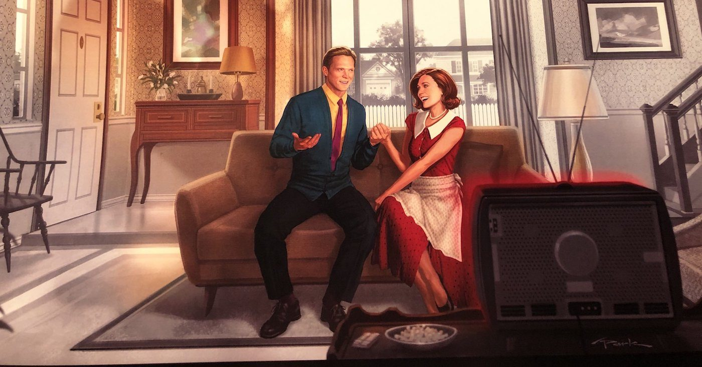Andy Park's poster for WandaVision. Courtesy Walt Disney Studios/Marvel Studios