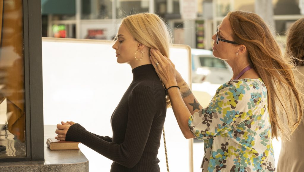 Margot Robbie on the set of 'Once Upon a Time In...Hollywood.' Courtesy Sony Pictures