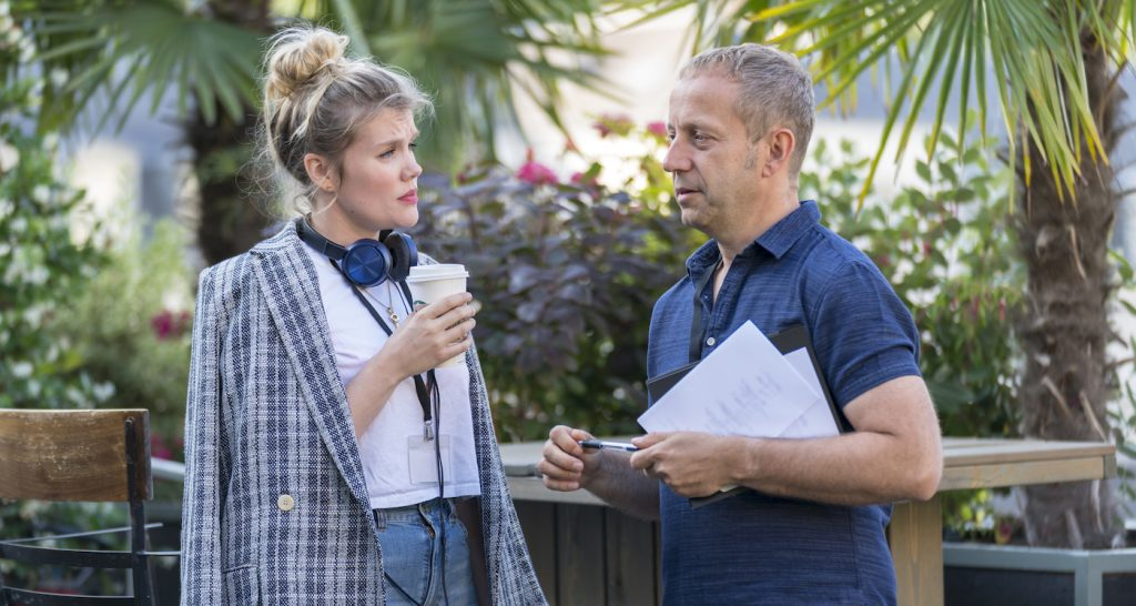 Exeutive Producer Emerald Fennell and Director Damon Thomas - Killing Eve _ Season 2, Episode 1 - Photo Credit: Aimee Spinks/BBCAmerica