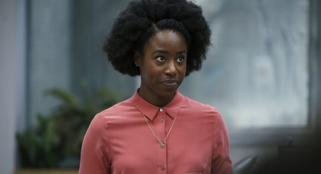 Kirby Howell-Baptiste is Elena in 'Killing Eve.' Photo by Nick Briggs. Courtesy BBC America.