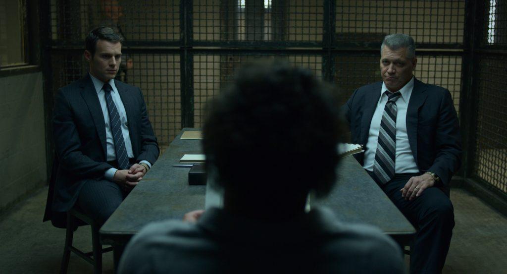 L-r: Jonathan Groff, Oliver Cooper, Holt McCallany. Courtesy Netflix.