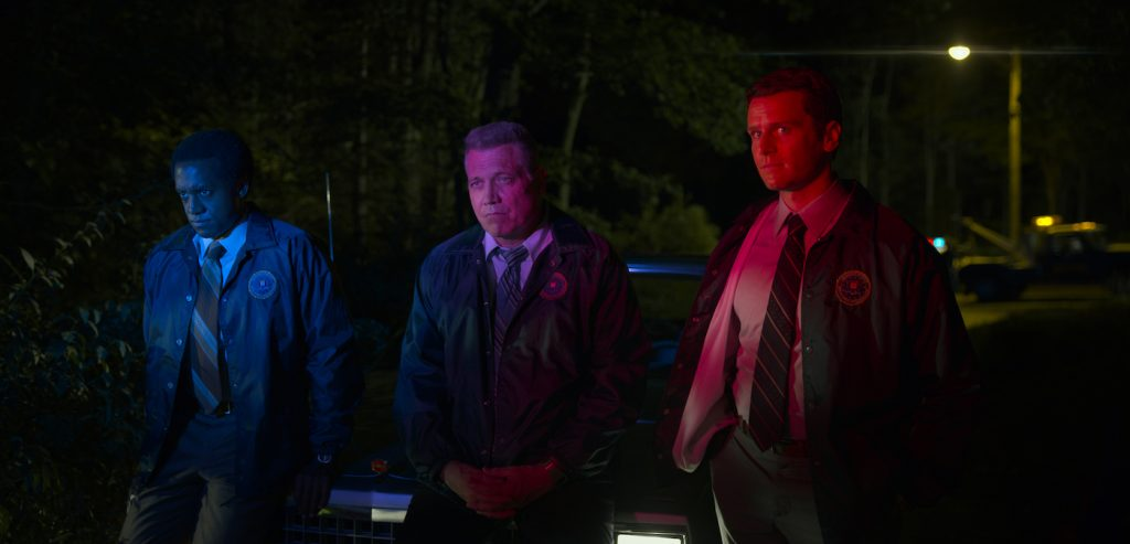 L-r: Albert Jones, Holt McCallany, Jonathan Groff. Courtesy Netflix.