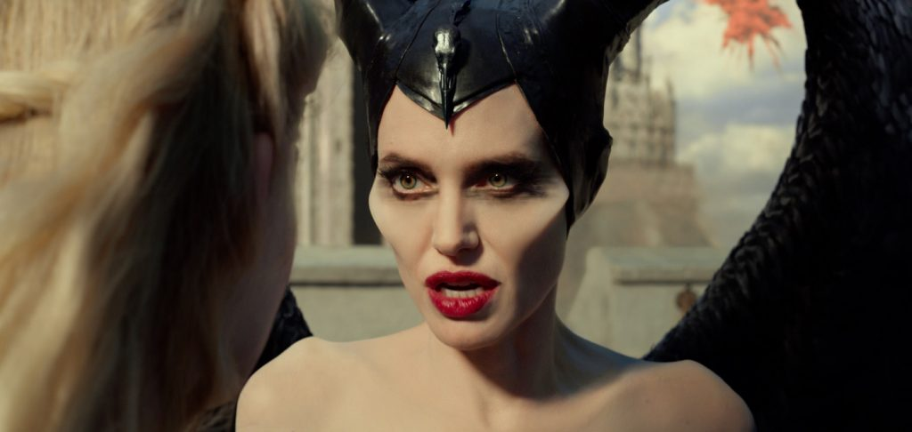 Elle Fanning is Aurora and Angelina Jolie is Maleficent in Disney's MALEFICENT:   MISTRESS OF EVIL. Courtesy Walt Disney Studios.