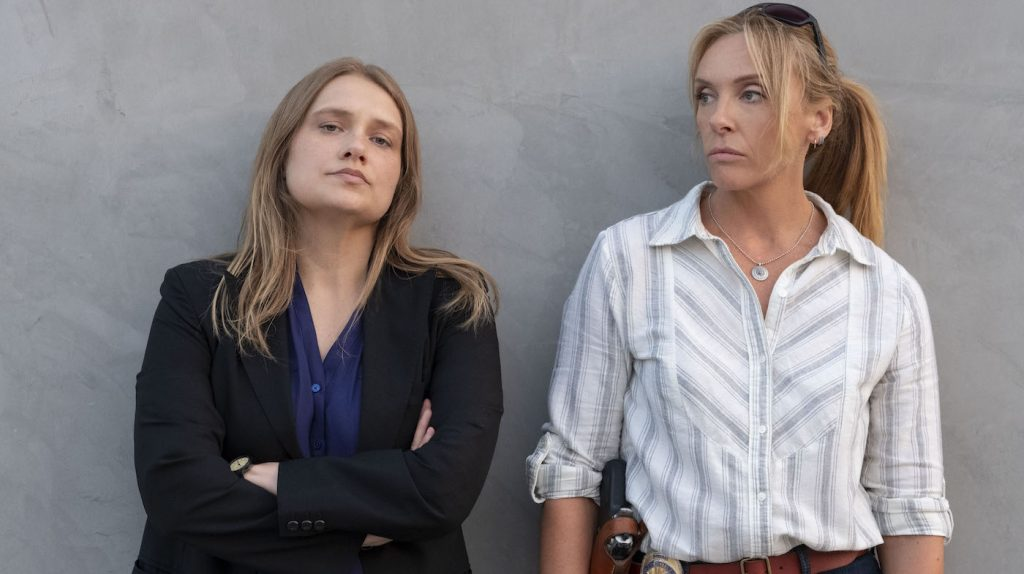 L-r: Merritt Wever, Toni Collette. Photo courtesy Beth Dubber/Netflix