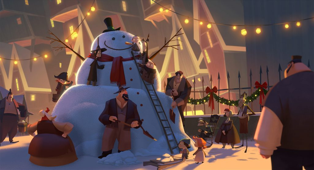 An image from Netflix's first animated Feature 'Klaus.' Courtesy Netflix.