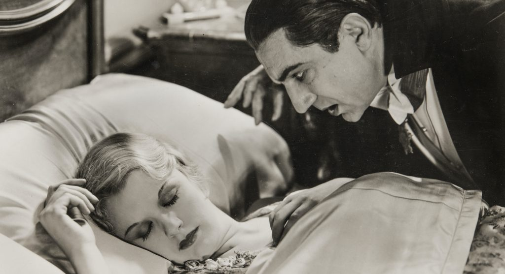 A photo of Bela Lugosi as Count Dracula and Helen Chandler as Mina in Tod Browning's  1931 'Dracular.' Courtesy NBCUniversal