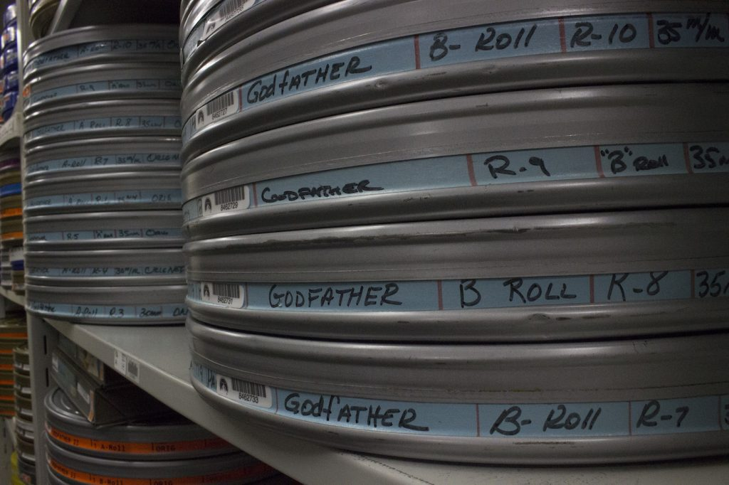 The Godfather reels. Courtesy Paramount Pictures.