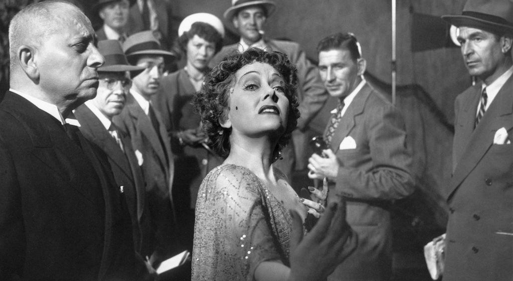 Erich von Stroheim as Max Von Mayerling; and Gloria Swanson as Norma Desmond. Courtesy Paramount Pictures.