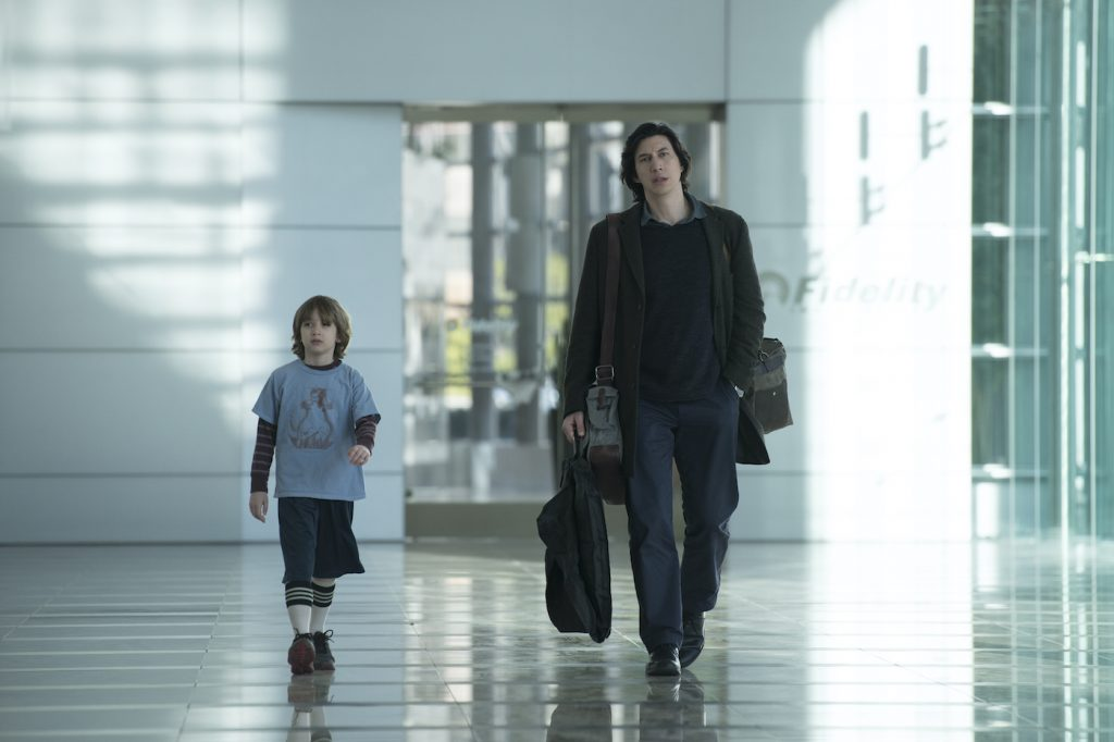 L-r: Azhy Robertson and Adam Driver in 'Marriage Story.' Photo credit: Wilson Webb/Netflix.