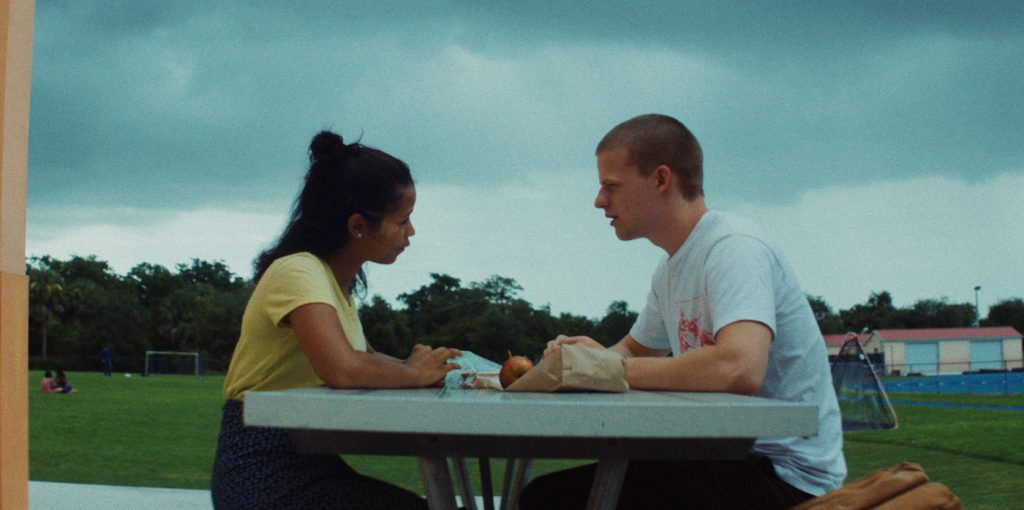 (L-R) Taylor Russell, Lucas Hedges. Courtesy of A24