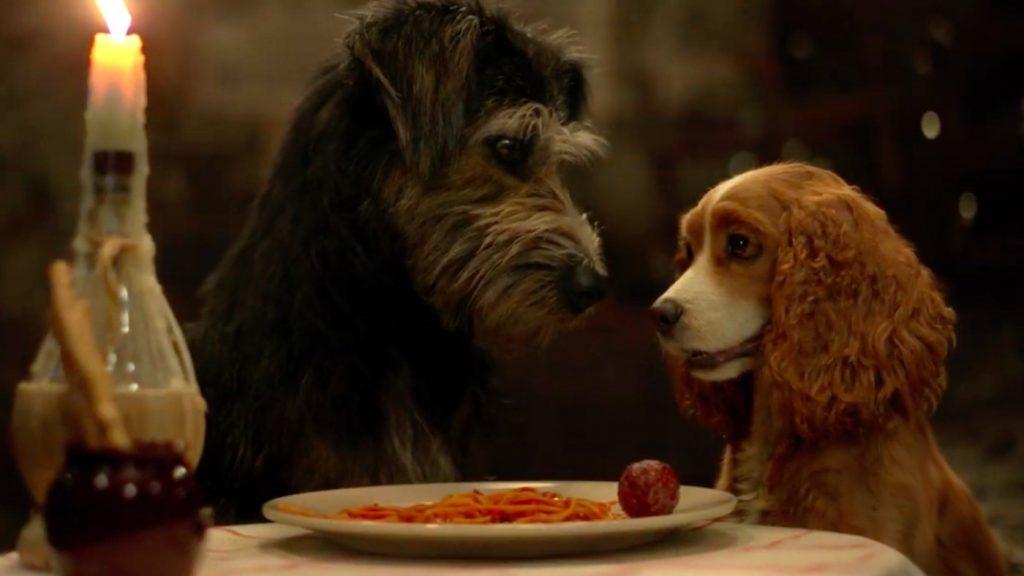 L-r: Tramp (Monte) and Lady (Rose) in Disney +'s 'Lady and the Tramp.' Courtesy Walt Disney Studios