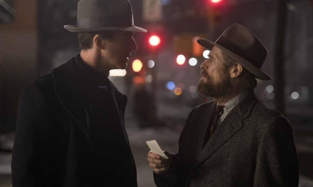"Caption: (L-r) EDWARD NORTON as Lionel Essrog and WILLEM DAFOE as Paul in Warner Bros. Pictures' drama ""MOTHERLESS BROOKLYN,"" a Warner Bros. Pictures release. Photo Credit: Glen Wilson"