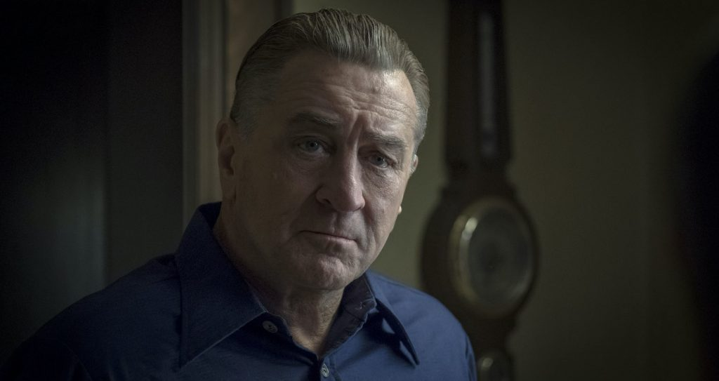 Frank middle age - his own hair colored, prosthetics and makeup used for de-aging:  (credit: courtesy of Netflix