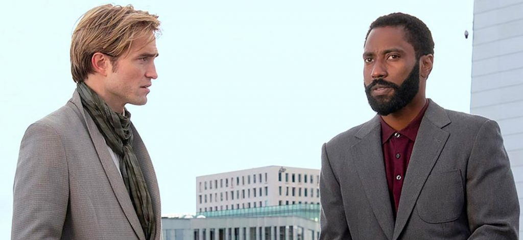 L-r: Robert Pattinson and John David Washington in Christopher Nolan's 'Tenet.' Courtesy Warner Bros. Pictures.