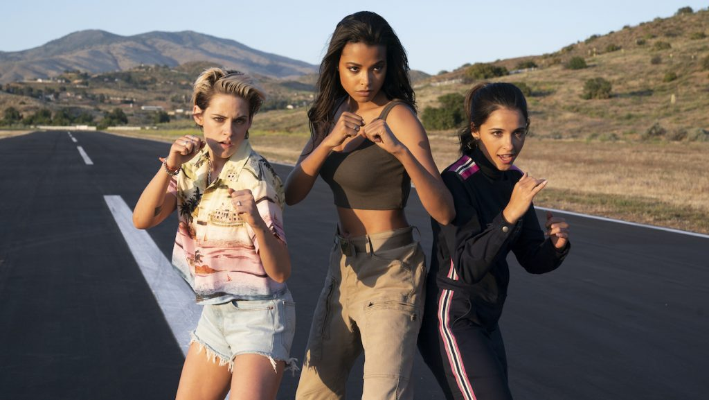 Kristen Stewart, Ella Balinska and Naomi Scott star in Charlie's Angels. Photo Credit: Merie Weismiller Wallace/Sony Pictures.