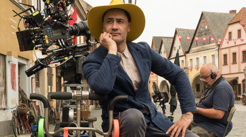 Writer/Director Taika Waititi on the set of JOJO RABIT. Photo by Kimberley French. © 2019 Twentieth Century Fox Film Corporation All Rights Reserved