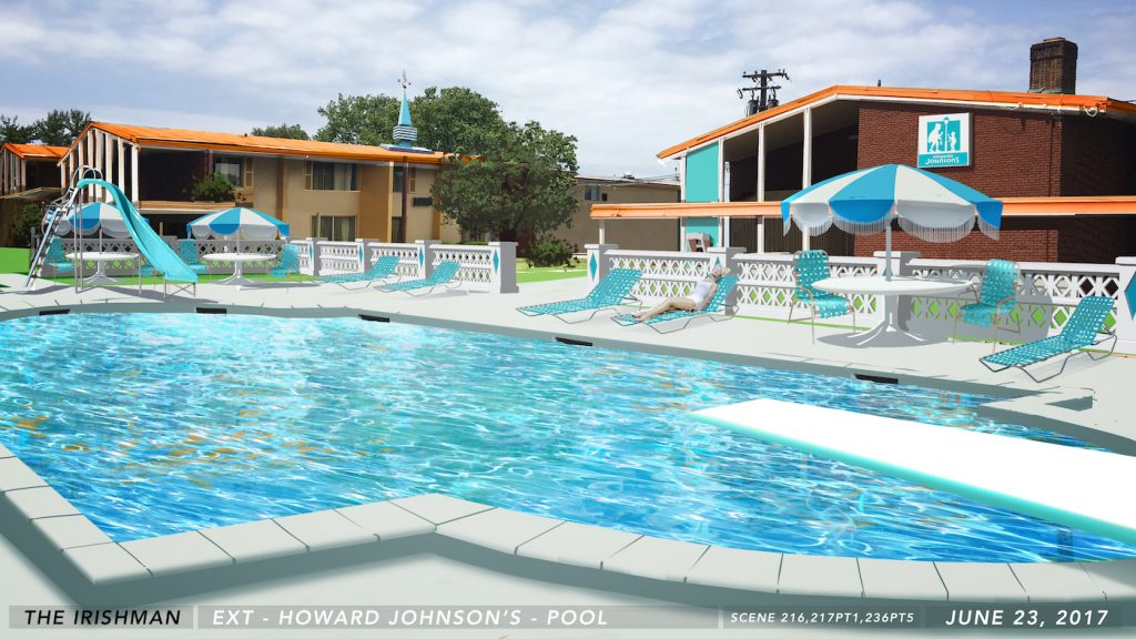 The Howard Johnson's Pool sketch. Courtesy Bob Shaw.