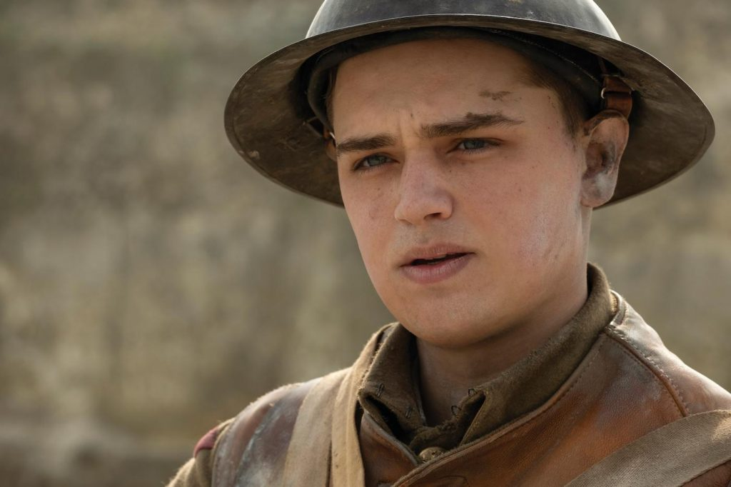 "Dean-Charles Chapman as Blake in ""1917,"" the new epic from Oscar®-winning filmmaker Sam Mendes. hoto Credit: François Duhamel / Universal Pictures and DreamWorks Pictures"
