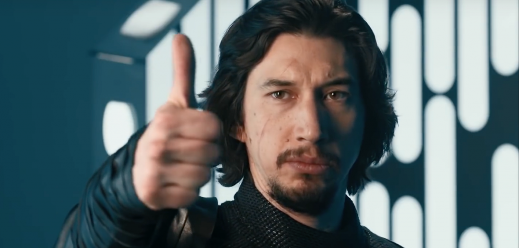 Adam Driver returns to 'Saturday Night Live,' and in this sketch, plays Kylo Ren. Courtesy NBC