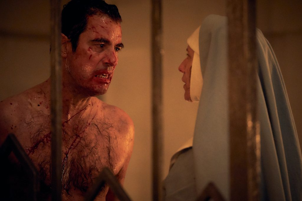 Claes Bang is Dracula and Dolly Wells is Agatha/Zoe Helsing in 'Dracula.' Courtesy Netflix.