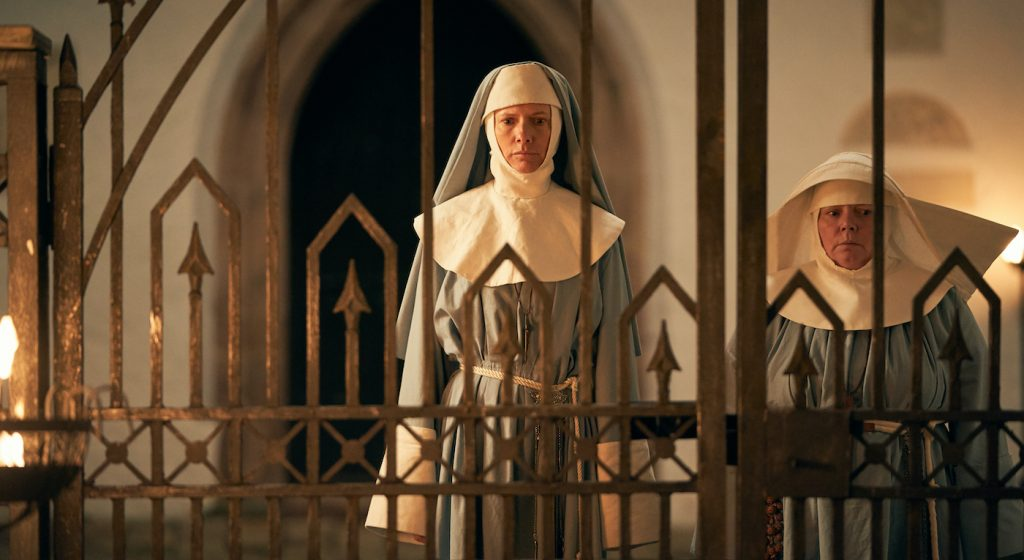 Dolly Wells is Sister Agatha/Zoe Helsing in 'Dracula.' Courtesy Netflix.