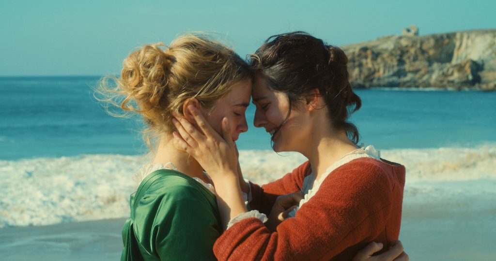 Adèle Haenel is Héloïse and Noémi Merlant is Marianne in 'Portrait of a Lady on Fire.' Courtesy Neon