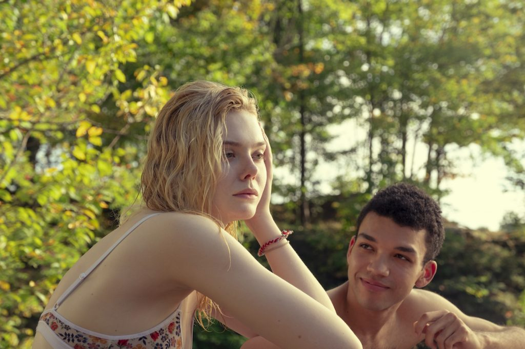 "Elle Fanning (""Violet""), Justice Smith (""Theodore Finch""). ALL THE BRIGHT PLACES. Photo by Walter Thomson. Courtesy Netflix."
