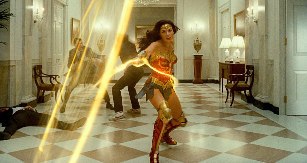 """Caption: GAL GADOT as Wonder Woman in Warner Bros. Pictures' action adventure """"WONDER WOMAN 1984,"""" a Warner Bros. Pictures release. Photo Credit: Courtesy of Warner Bros. Pictures/ ™ & © DC Comics"""