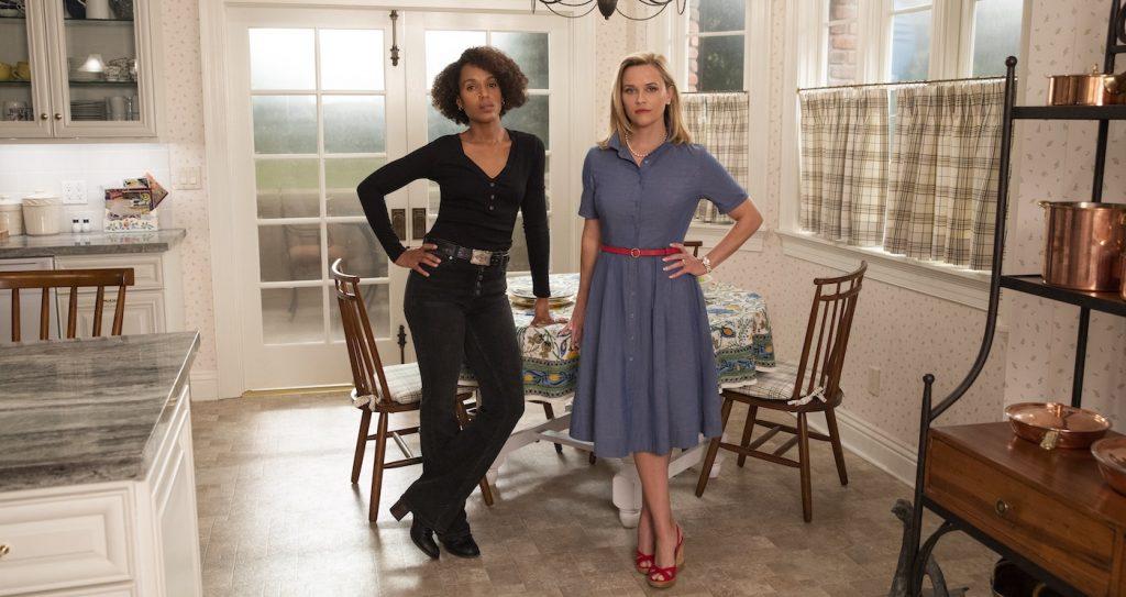 Mia Warren (Kerry Washington) and Elena Richardson (Reese Witherspoon), shown. (Photo by: Erin Simkin/Hulu)