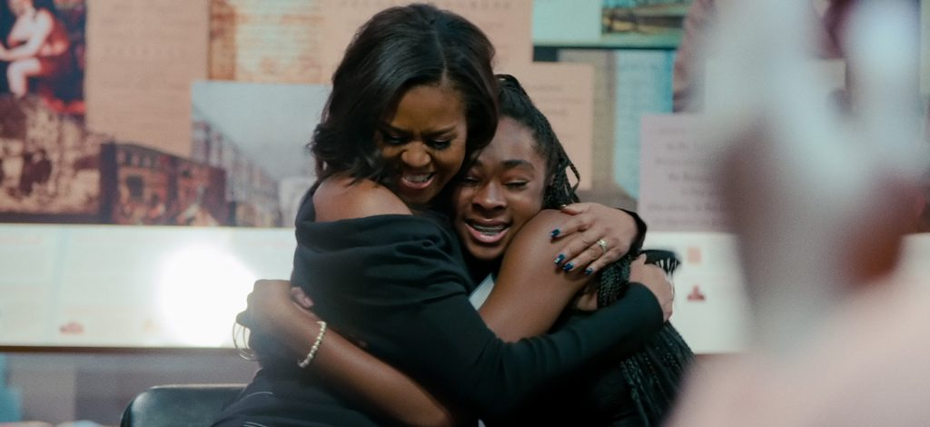 Michelle Obama in BECOMING. Cr. NETFLIX © 2020 Netflix